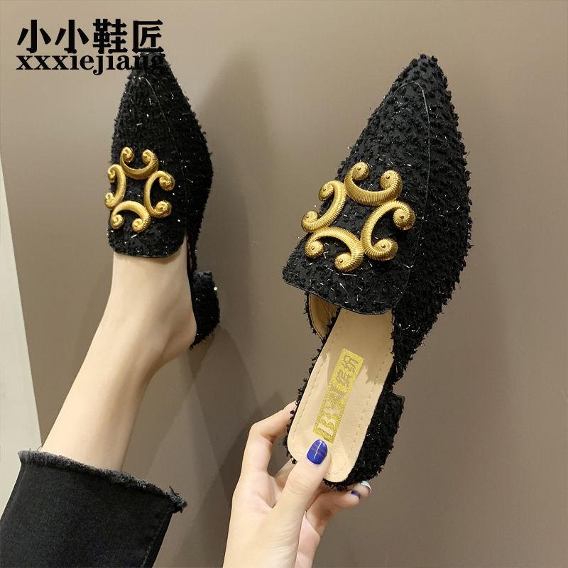 รองเท้าผู้หญิง🍇รองเท้าผู้หญิงเปิดส้น🍇รองเท้าคัชชู หัวแหลม รองเท้าแฟชั่นผู้หญิง รองเท้า เกาหลี  นิ่มไม่กัดเท้า