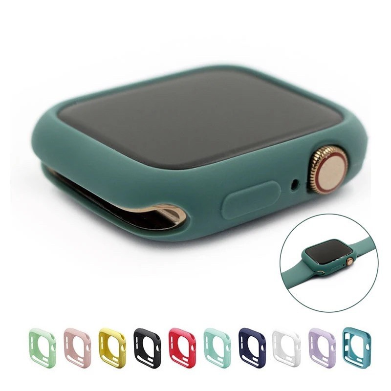 เคส applewatch 🔥พร้อมส่ง Case Silicon เคสสำหรับ Apple Watch Series1/2/3/4/5 เคสซิลิโคนนาฬิกา
