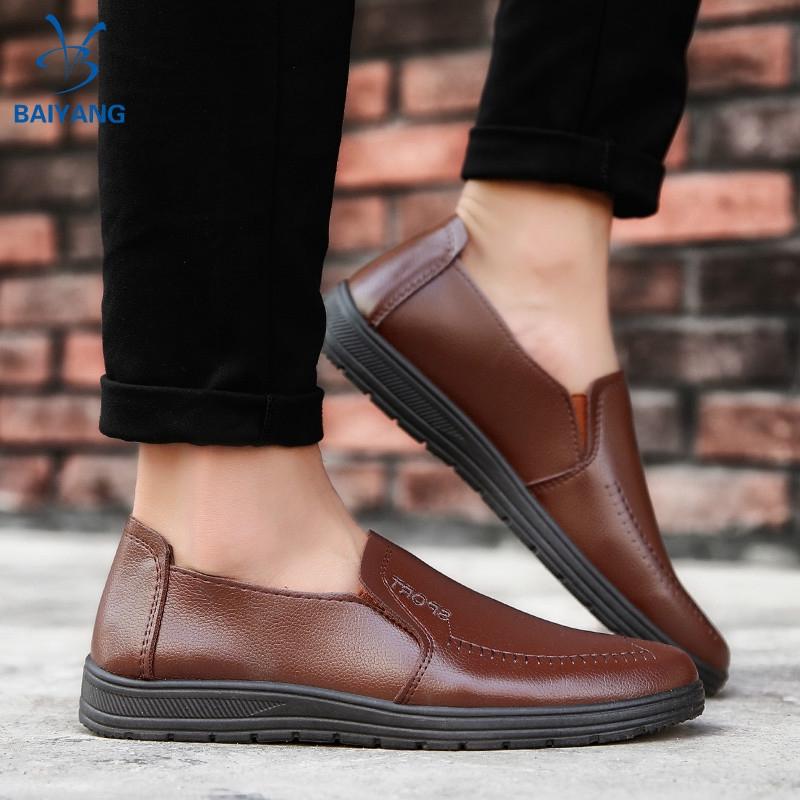BY❤ รองเท้าหนังแท้ รองเท้าหนังแฟชั่น รองเท้าโลฟเฟอร์ ผู้ชาย loafer รองเท้า รองเท้าคัชชู รองเท้าหนังแบบผูกเชือก 04