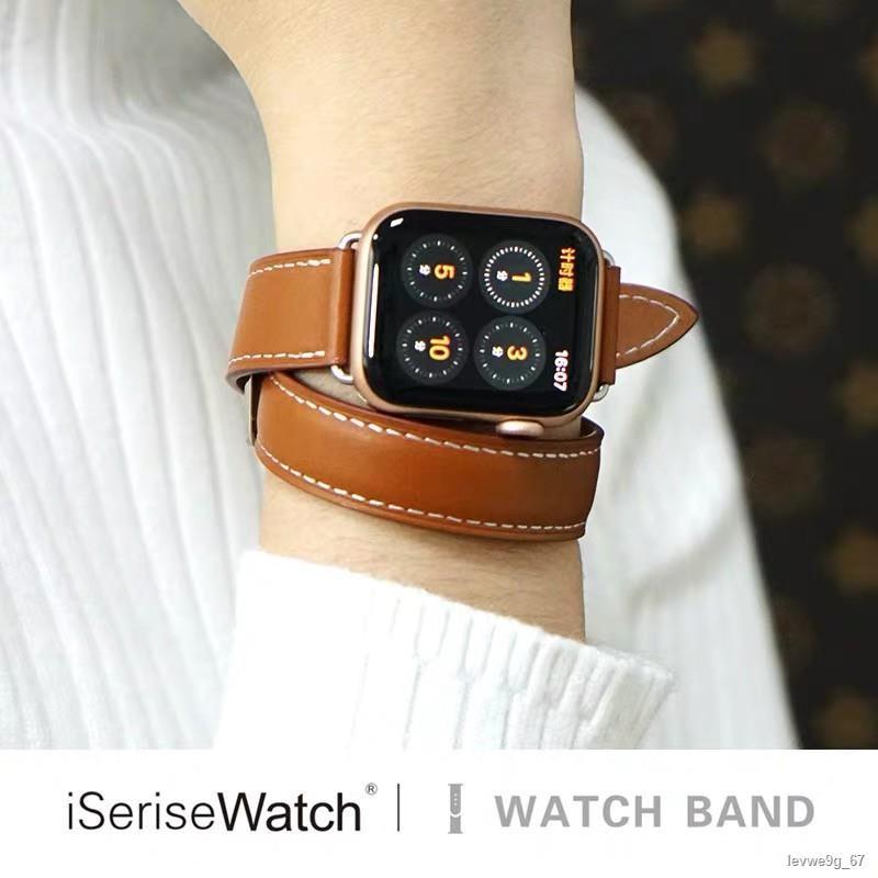 ถูกที่สุด♟พร้อมส่งจากไทย!สาย Apple watch ทุกSeries5/4/3/2/1 สายหนัง Leather Band