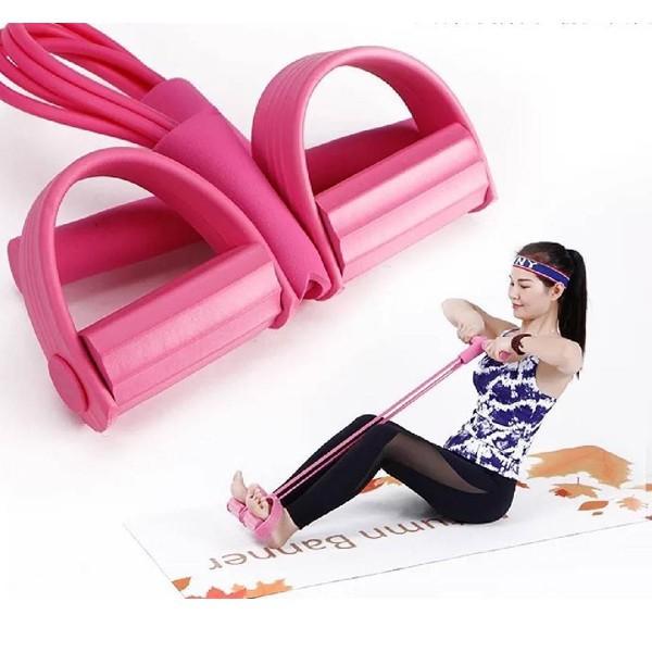 ยางยืดออกกำลังกาย แบบ 4 เส้นแรงต้านผ้ายืดออกกำลังกาย ยางยืดแรงต้าน  ยางยืดออกกำลังกายแรงต้านสูง