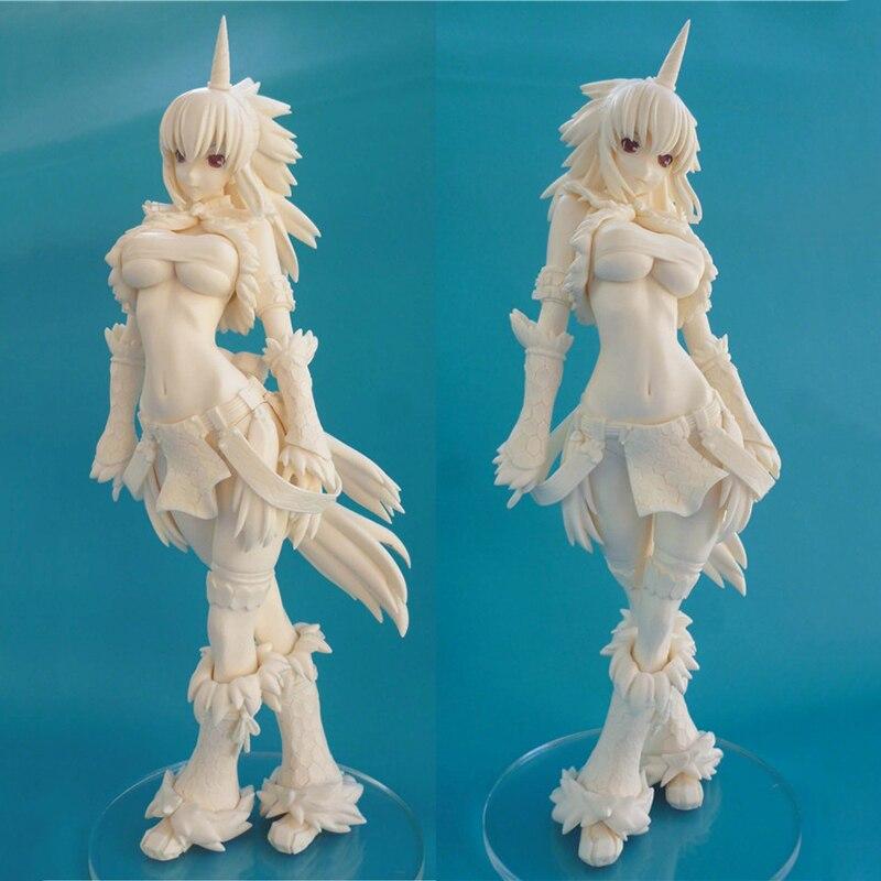 Resin GK GARAGE KIT Monster Hunter Unicorn sexy girl white model 1/6 GK Resin model doll sexy Action Figure Collection M