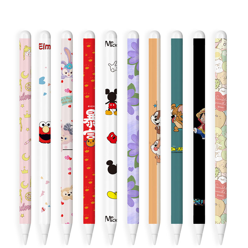 Apple Pencil 2 Case iPad Pencil 2 Colorful Cover Anti-slip Pen Set Cute Fashion Sticker Protective Cases