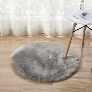 Fluffy Rugs Anti-Skid Shaggy Area Rug Room Home Bedroom Carpet Round Floor Mat