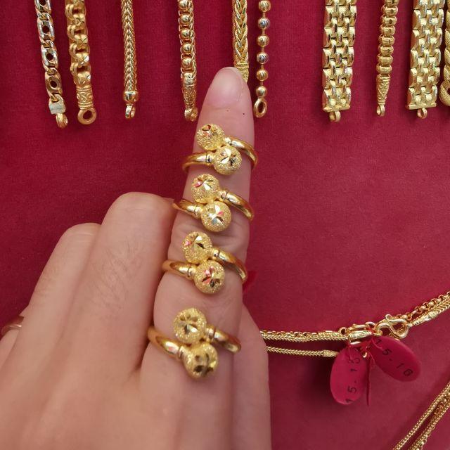  แหวนทองแท้ 96.5%  น้ำหนักทอง 1 สลึง ไซ้ร 49,50,51,52  ราคา 8,350บาท