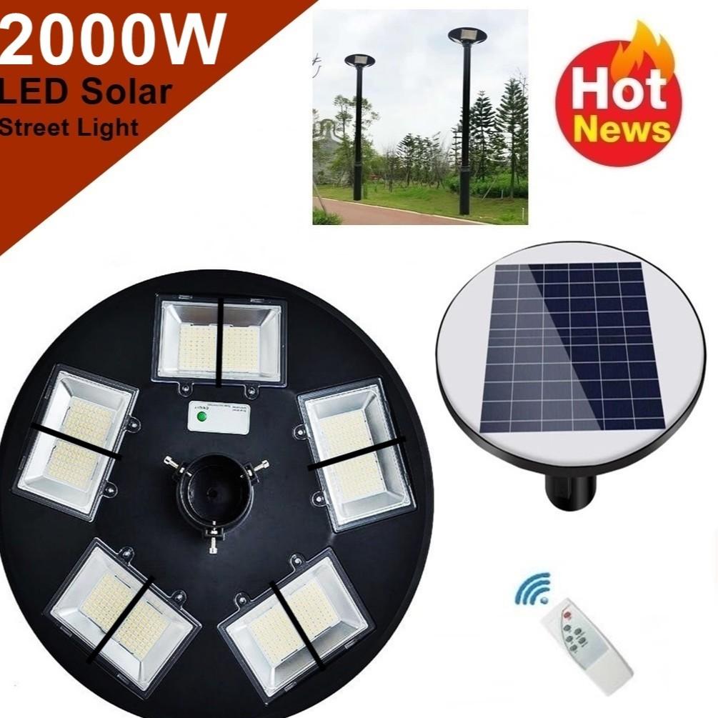 โคมไฟถนน UFO 10ช่อง LED 2000W Square Light  โคมไฟโซลาร์เซลล์  พลังงานแสงอาทิตย์  Solar Street Light พลังงานแสงอาทิตย์