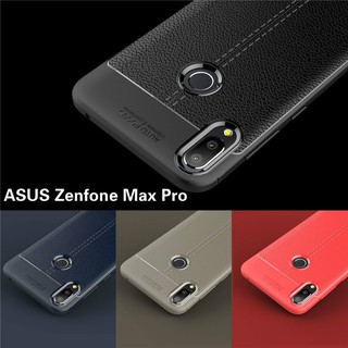 Review เคส ASUS Zenfone Max Pro M1 M2 ZB555KL ZB601KL ZB631KL ZB633KL Cover Shockproof Luxury Leather TPU Back Case