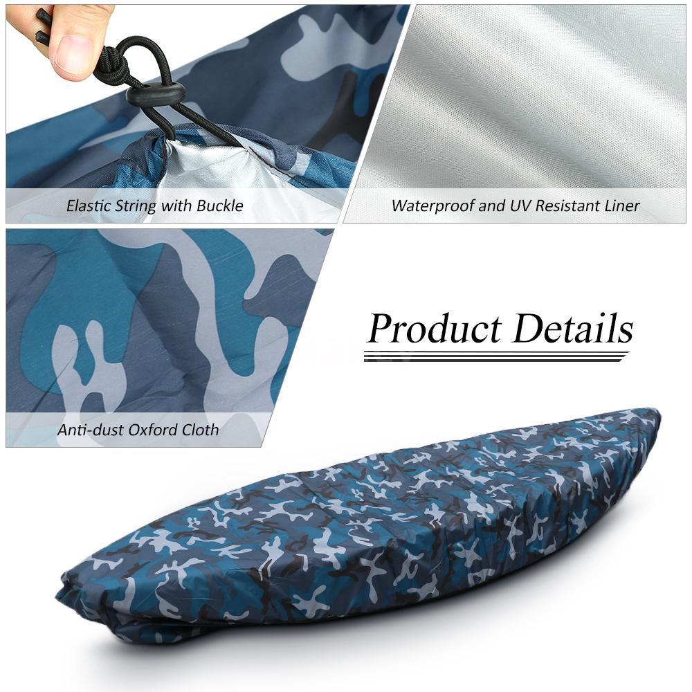 Kayak Cover Canoe Boat Waterproof UV Resistant Dust Storage Shield Universal USA
