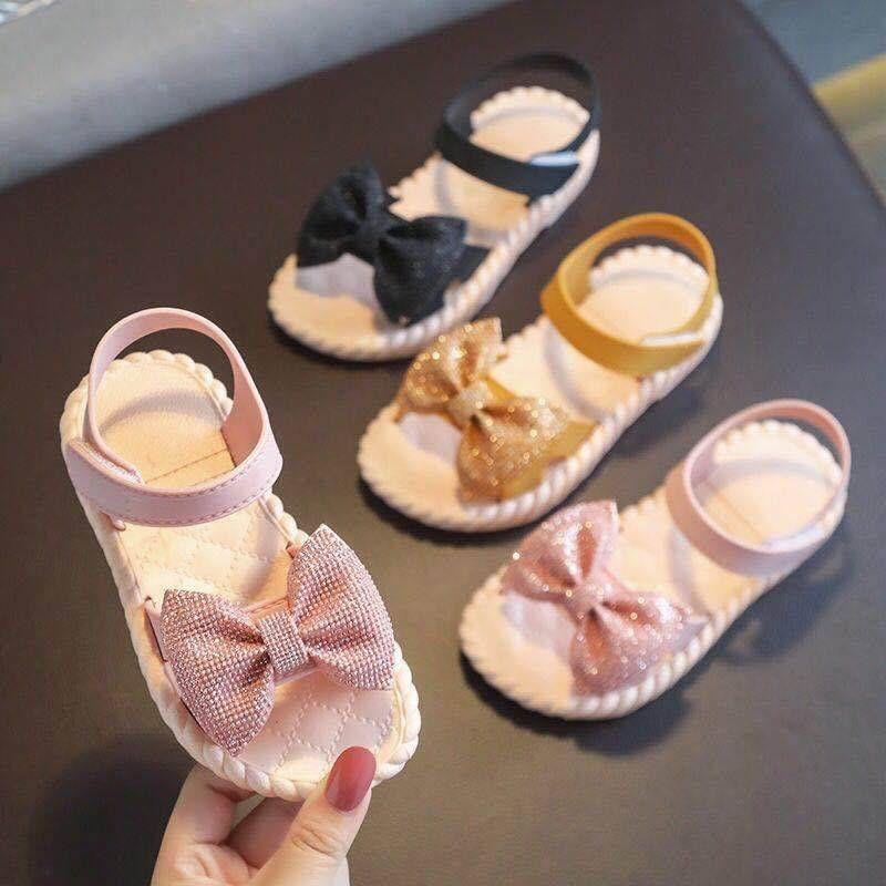 รองเท้าแตะเด็กผู้หญิง รัดส้น คัชชู เจ้าหญิง โบว์กากเพชร แฟชั่น ใส่ออกงาน ใส่งานกิจกรรม ใส่เที่ยว(24-29)