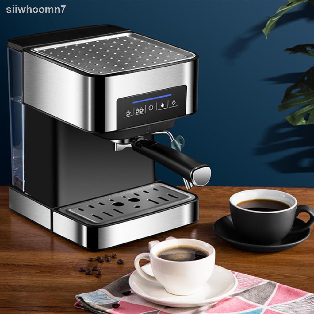 ✾♟◆เครื่องชงกาแฟ เครื่องชงกาแฟเอสเพรสโซ การทำโฟมนมแฟนซี การปรับความเข้มของกาแฟด้วยตนเอง เครื่องทำกาแฟขนาดเล็ก เครื่องท