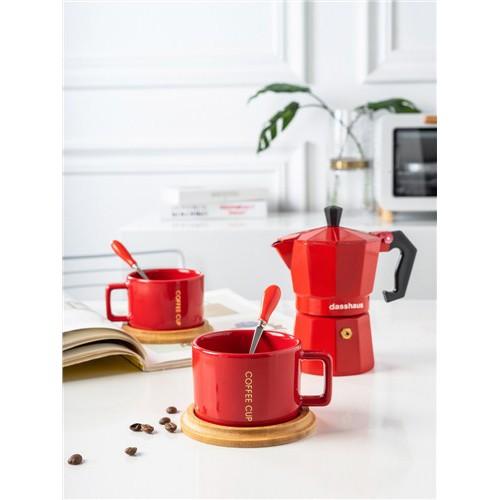 เครอื่งชงั่นำหนัก◘♗▫เครื่องชงกาแฟ moka pot ของอิตาลี เครื่องชงกาแฟบ้าน เครื่องทำกาแฟ หม้อกาแฟมือเดียววาล์วขนาดเล็ก1