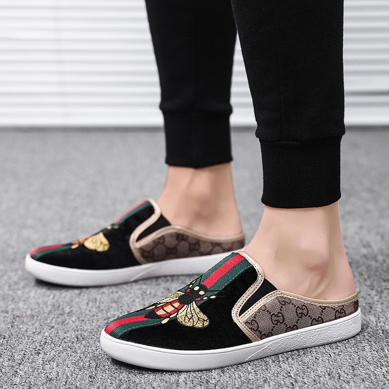 รองเท้าคัชชู รองเท้าผ้าใบเปิดส้น รองเท้าแฟชั่น 2020 รองเท้าผู้ชาย รองเท้า