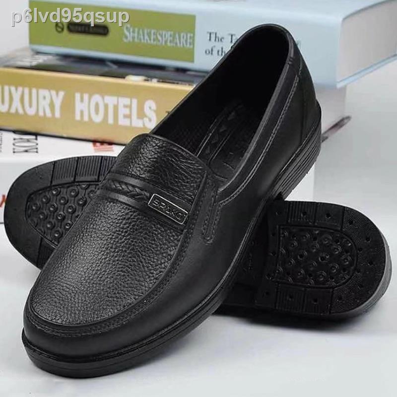 รองเท้าหนังผู้ชาย✹☂♟Sunny flower รองเท้าไม่มีส้นของผู้ชายรองเท้าคัชชูชายรองเท้าชายรองเท้าคัชชูผชรองเท้าใส่ในบ้านนุ่มบาย