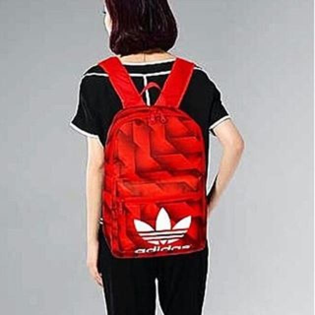 Adidas original backpack red