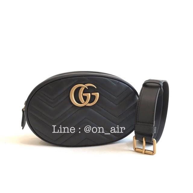 New gucci marmont belt bag เป๋าไซส์ใหญ่ของแท้ 100%