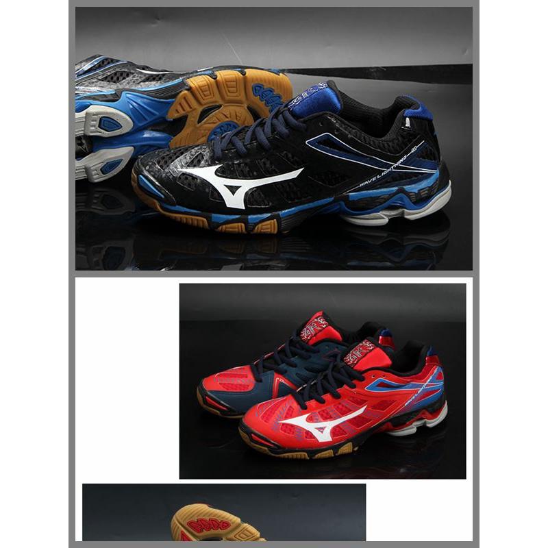 ของแท้ Mizuno รองเท้าวอลเลย์บอลรองเท้าผู้ชายมืออาชีพในร่มการดูดซึม shock ลื่นน้ำหนักเบาระบายอากาศทีมชาติ mizuno รองเท้าแ