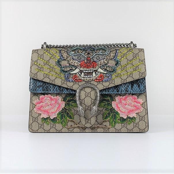 [สปอตมาถึงไต้หวัน] Gucci Gucci Dionysus Limited Art Crystal Inlaid Embroidery แล