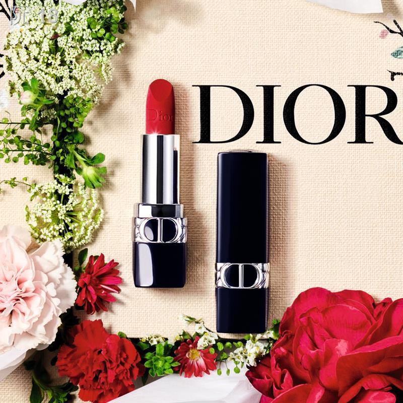 ✜> [Official Authentic] Dior Flower Smile Gift Box Lipstick ลิปสติกน้ำหอม 999 missdior