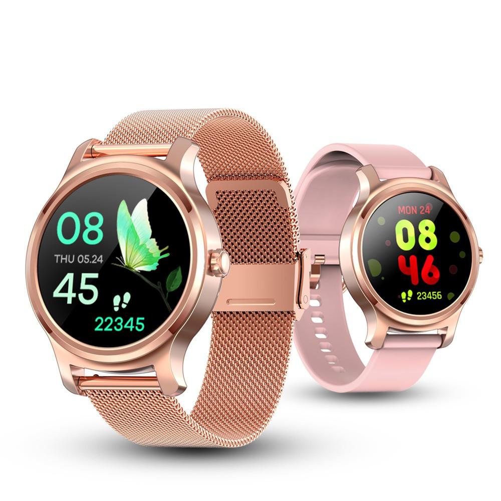 นาฬิกาข้อมือ Smart Watch สําหรับผู้ชายผู้หญิงเชื่อมต่อบลูทูธ 2020 Ips