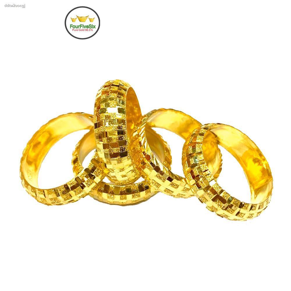 ราคาต่ำสุด❄♤✤Flash Sale แหวนทองครึ่งสลึง ร่ำรวยยิ่ง หนัก 1.9 กรัม ทองแท้96.5%