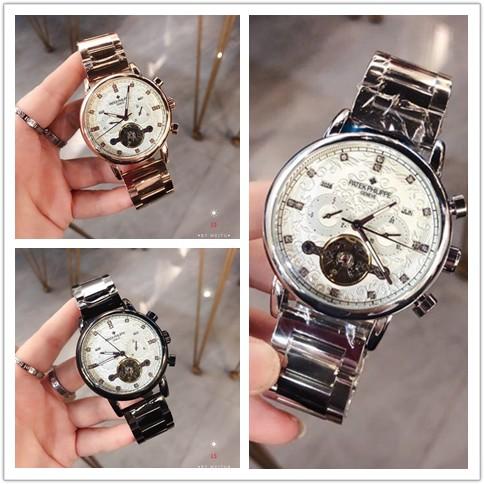 PATEK PHILIPPE นาฬิกาผู้ชายนาฬิกาแท้นาฬิกาสแตนเลส
