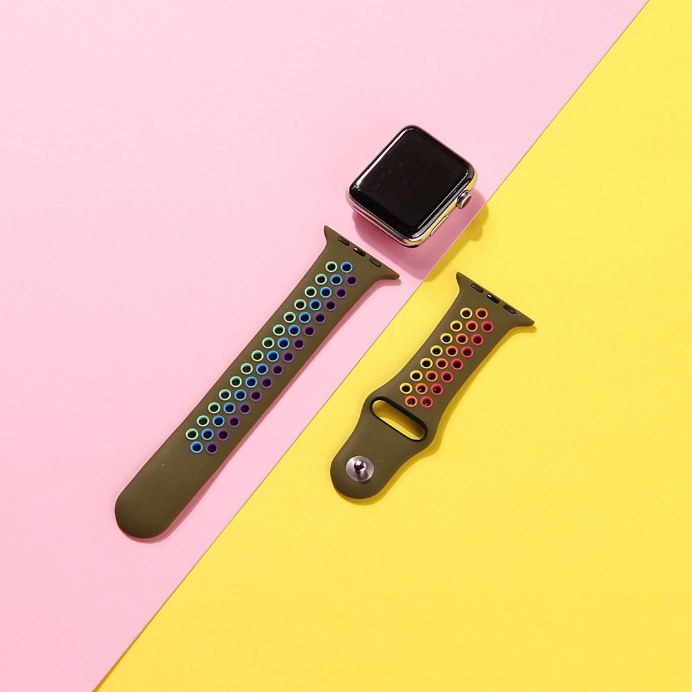สายนาฬิกาข้อมือซิลิโคน Nike ระบายอากาศสําหรับ Apple Watch Series 5 / 4 / 3 / 2 / 1 38 มม . 40 มม . 42 มม . 44 มม .