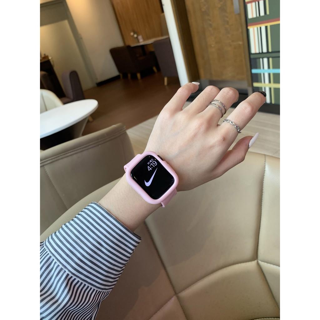 เคสนาฬิกา applewatchบังคับapplewatchง่ายหนึ่งสายiwatch123456สายนาฬิกา Apple รุ่นซิลิโคน44mmapplewatch