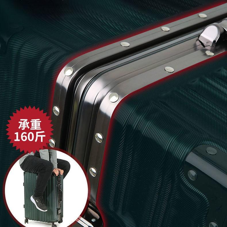 ✆☁> กระเป๋าเดินทางความจุขนาดใหญ่เวอร์ชั่นเกาหลีของลำต้นอลูมิเนียมกรอบกล่องรถเข็นสากลล้อ 24 กล่องเข้ารหัสที่แข็งแกร่งทนทา