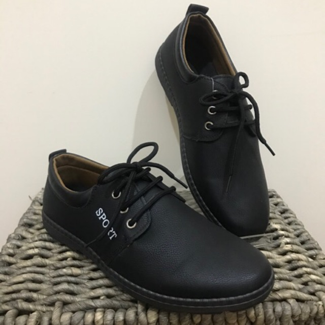 B706 คัชชูหนัง รองเท้าผู้ชายผูกเชือก แบรนด์ Fashion