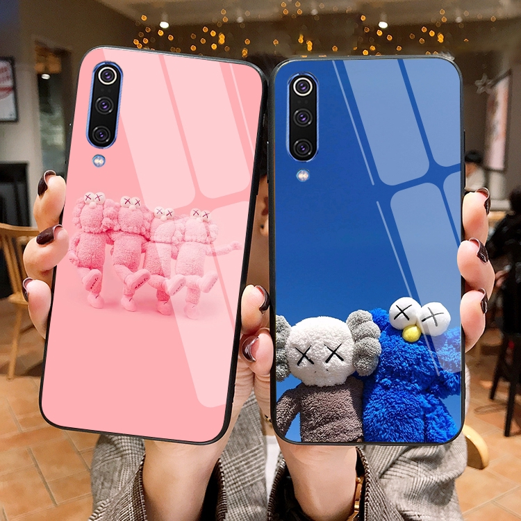 Kaws casing samsung galaxy A8 STAR A9 PRO 2019 hard case A9 STAR cover Tempered glass casing A9S full case shockproof