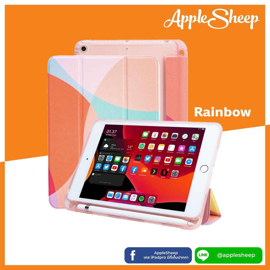 AppleSheep Trifold สำหรับ iPad Mini Gen5 มีที่เก็บ Apple Pencil เคสไอแพดคุณภาพดีที่สุดจาก AppleSheep xP6c