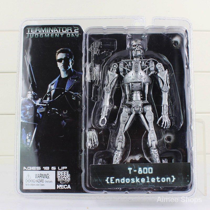 "NECA The Terminator 2 Action Figure T-800 ENDOSKELETON Classic Figure Toy 7""18cm okII"