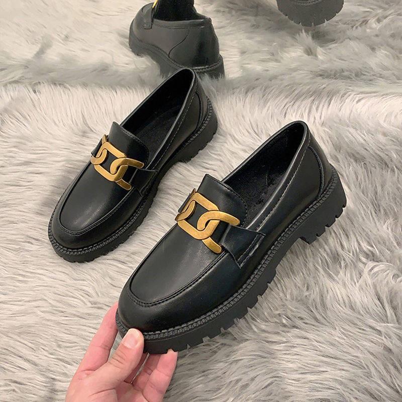 รองเท้าคัชชู รองเท้าผู้หญิง ร้องเท้า ❂รองเท้าเด็ก 2021 แขนใหม่รองเท้าเดียว Yinglan ลมรองเท้าหนังขนาดเล็กนักเรียนหญิงเวอร