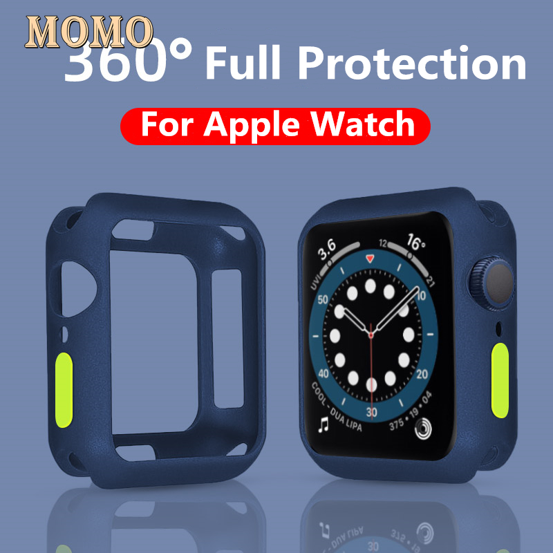 Apple Watch Case for Apple Watch 6 5 3 42MM 38MM Matte Bumper Cover Soft Silicone Shockproof Protection Shell for iWatch 4 5 6 SE 40MM 44MM