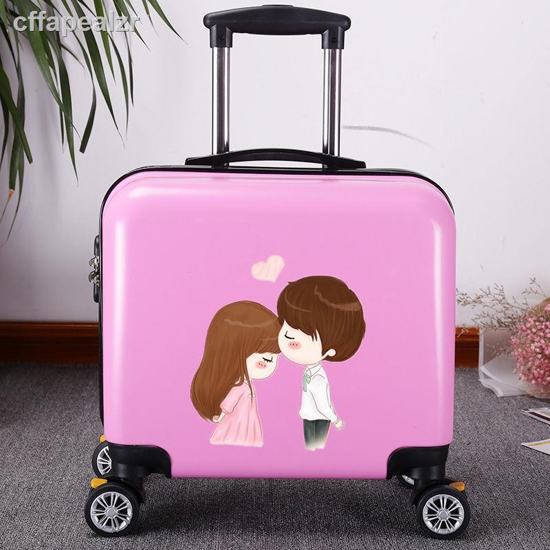 เวอร์ชั่นเกาหลีของกระเป๋าเดินทางขนาดเล็กหญิง 16 นิ้วมินิกระเป๋าเดินทาง 18 นิ้วสากลล้อกระเป๋าเดินทางชายธุรกิจรถเข็นกรณีจ