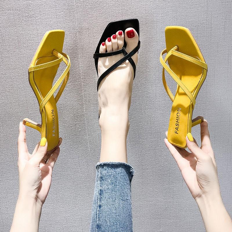 รองเท้าส้นสูง หัวแหลม ส้นเข็ม ใส่สบาย New Fshion รองเท้าคัชชูหัวแหลม  รองเท้าแฟชั่นรองเท้าแตะผู้หญิงฤดูร้อนแฟชั่นผู้หญิง