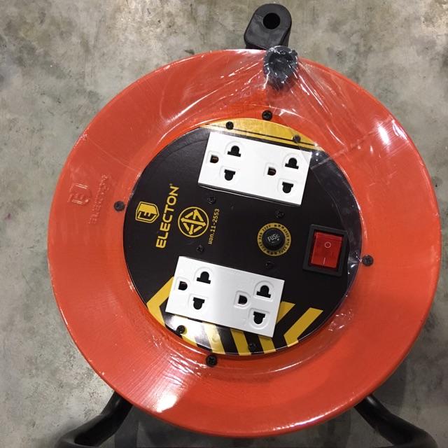 ล้อเก็บสายไฟ ล้อปลั๊กไฟ ล้อสายไฟ ELECTON สาย vct 2x2.5 ยาว 20 เมตร