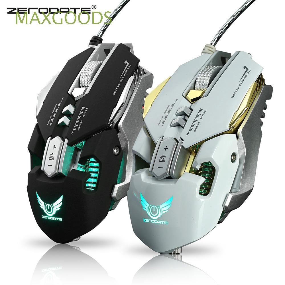 ZERODATE X300 7 Programmable Button LED Backlight Effect Ergonomic  Mechanical Gaming Mouse For PC Laptop LOL DOTA PUBG