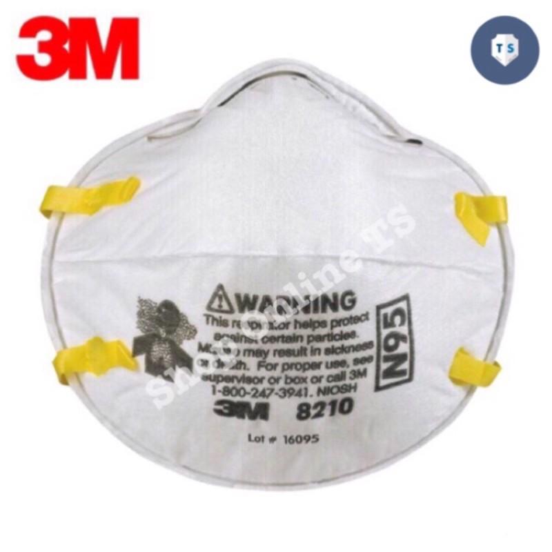 (พร้อมส่ง) หน้ากากกันฝุ่นละออง PM2.5 3M 8210 N95 (1ชิ้น)ไม่มีกล่อง