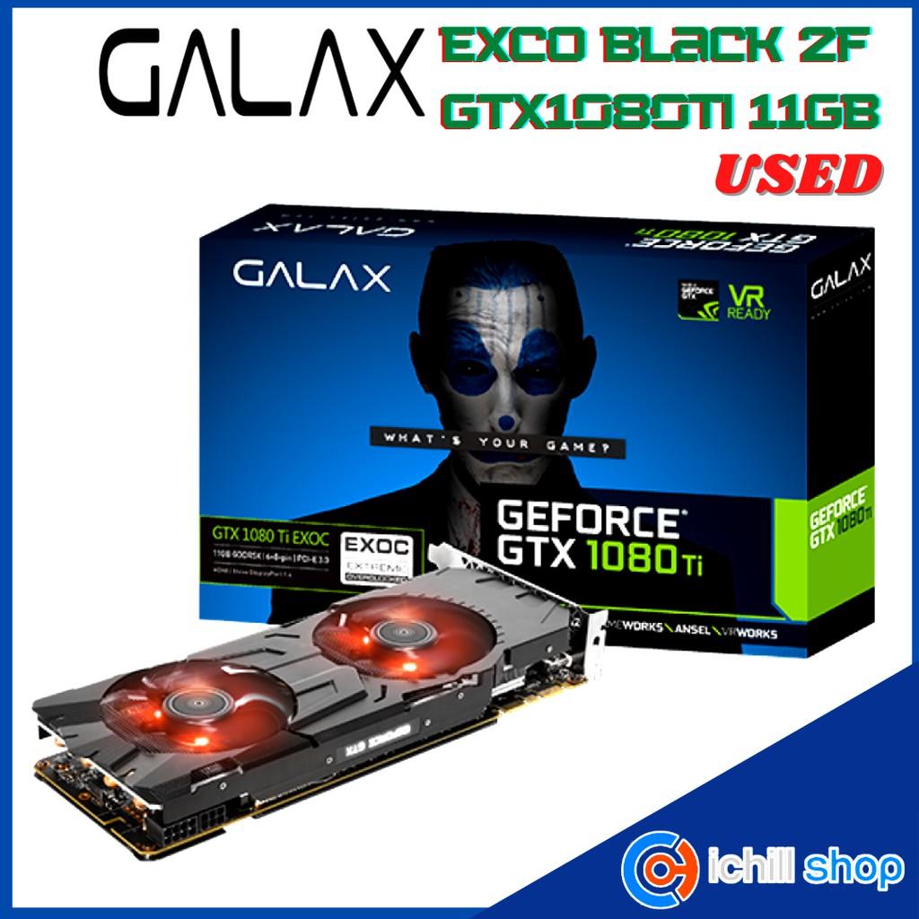 การ์ดจอ Galax GTX1080TI 11GB 2F EXCO Black (ประกันร้าน 30 วัน) P07753