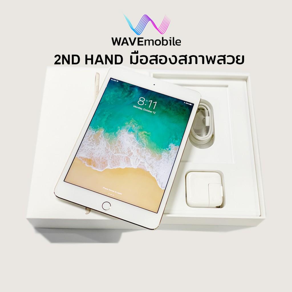 มือสอง(2nd Hand)iPad mini4 128GB Cellular (Model TH) เครื่องศูนย์ เครื่องแท้ สีทอง IMEI 3922