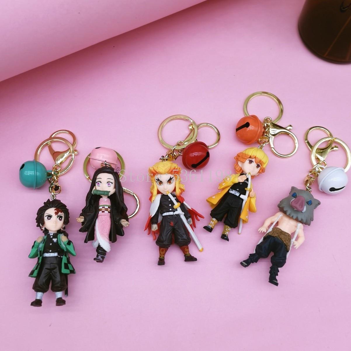 57cm Kimetsu no Yaiba Anime Figure Kamado Tanjirou Kamado Nezuko PVC Anime Figure Toy Demon Slayer Collection Model Doll
