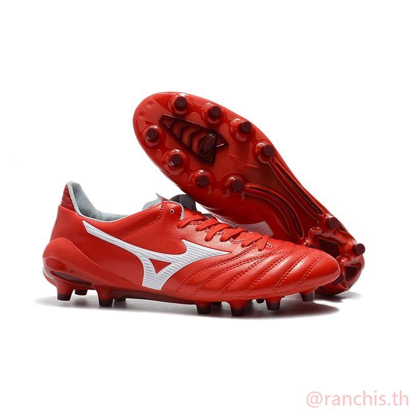 [พร้อมกล่อง] แท้จริง รองเท้าฟุตบอล Mizuno Morelia Neo II 39-45 สไตล์ร้อน แดงดำน้ำเงินญี่ปุ่น สีเขียว