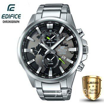 Casio Edifice รุ่น EFR-303D-1AV สินค้าขายดี นาฬิกาข้อมือผู้ชาย สายสแตนเลส (ของแท้100% )