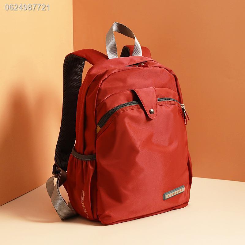 กระเป๋านักเรียนใบเล็กஐกระเป๋าเป้สะพายหลังผ้า Oxford หญิง 2021 ใหม่ฤดูร้อนที่เดินทางมาพักผ่อนกระเป๋าเป้สะพายหลังขนาดเล็กค