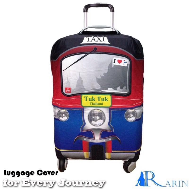 ผ้าคลุมกระเป๋าเดินทาง Tuk Tuk Thailand สีแดง R-007L (28 นิ้ว)