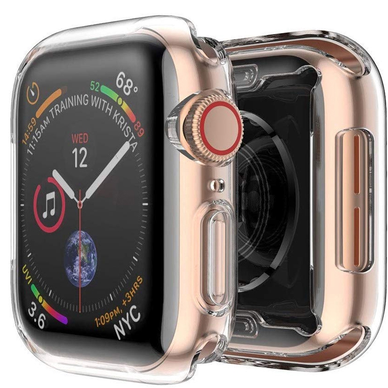 Apple Watch 3 2 1 42MM 38MM Full Cover Protection TPU Soft Clear Case iWatch 4 5 40MM 44MM Watch Frame Full Protective Bumper Cover Case เคสกรอบนาฬิกาข้อมือ