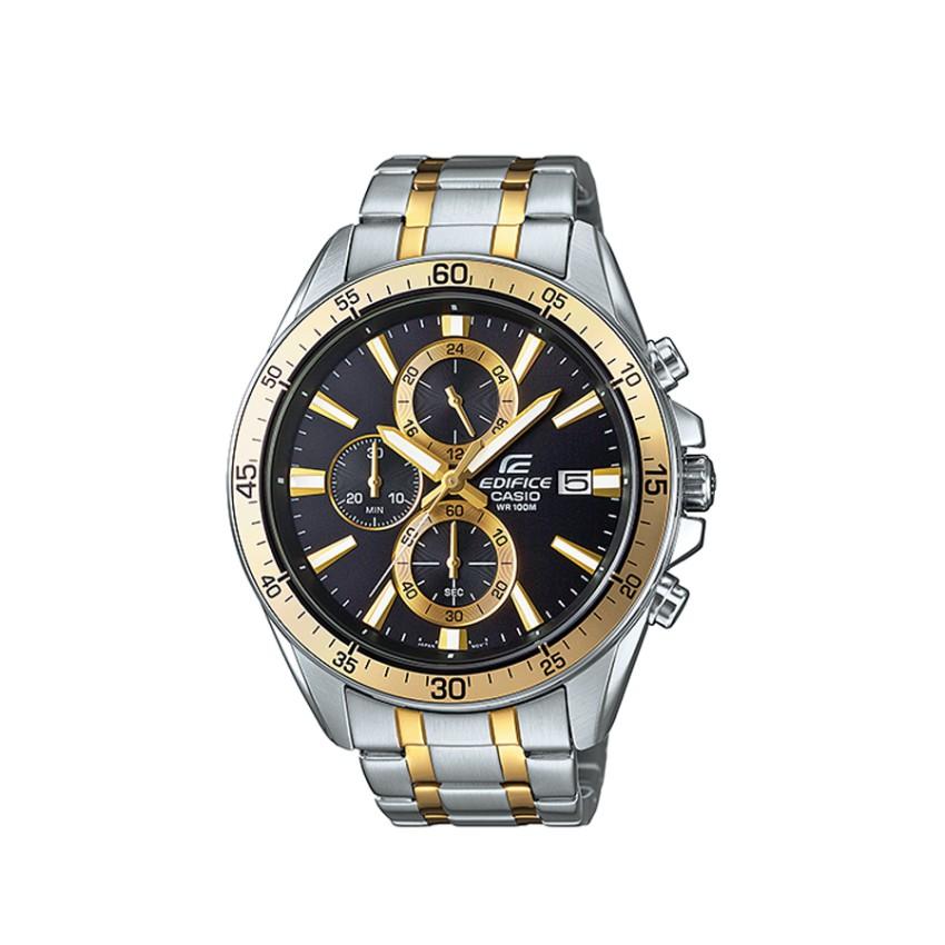 Casio Edifice Chronograph นาฬิกาข้อมือผู้ชาย สายสแตนเลส รุ่น EFR-546SG-1A - Black