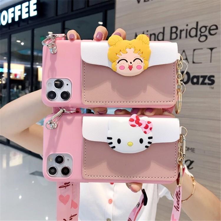 Samsung A31 A12 A52  A9 C9 Pro 2016 A6 A8 Plus J8 2018 Note 8 9 20 S21 S10 Plus Ultra Case  Kitty กระเป๋าธนบัตร เคสโทรศัพท์มือถือ อ่อนนุ่ม
