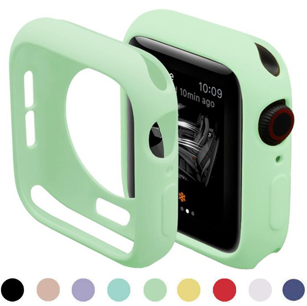 Cover For Apple Watch case 44mm 40mm iWatch case 42mm 38mm Accessorie Silicone bumper Protector Apple watch series 6 SE 5 4 3 2 1